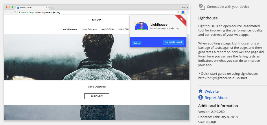 Chrome Lighthouse Extension for SEO Audits